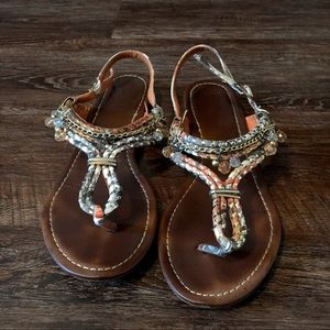 0ca588c3d72e Size 7 dsw sandals with dangling beads